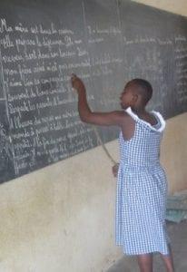 Orphan Girl at School